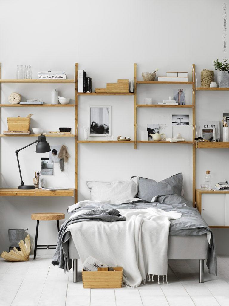 a dreamy ikea bedroom workspace daily dream decor. Black Bedroom Furniture Sets. Home Design Ideas