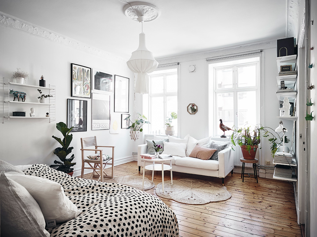 Another charming small scandinavian apartment daily for Sofa jugendzimmer