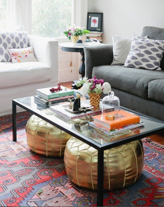 Undet The Coffee Table Seats 4