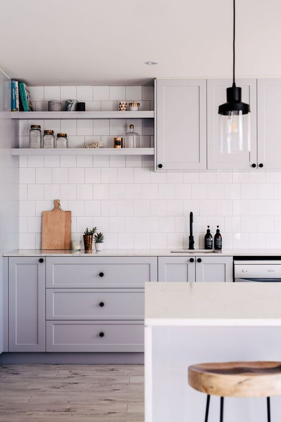 Splendid Grey Kitchens To Dream About Daily Dream Decor - Tiles to match grey kitchen