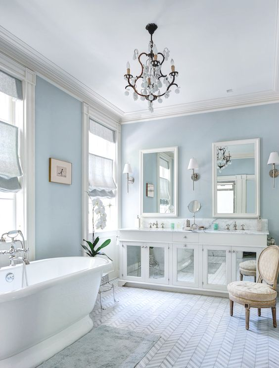 Blue Beige Bathroom Walls: 7 Dreamy Wall Colors That Will Help You Reduce Stress