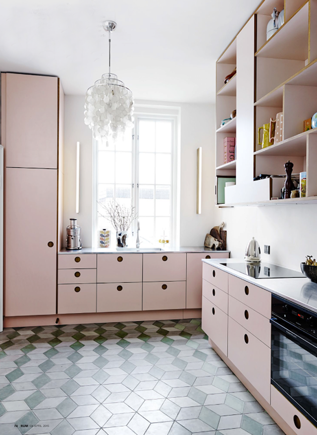 7 Splendid Kitchens That Prove Pink Can Be The Perfect
