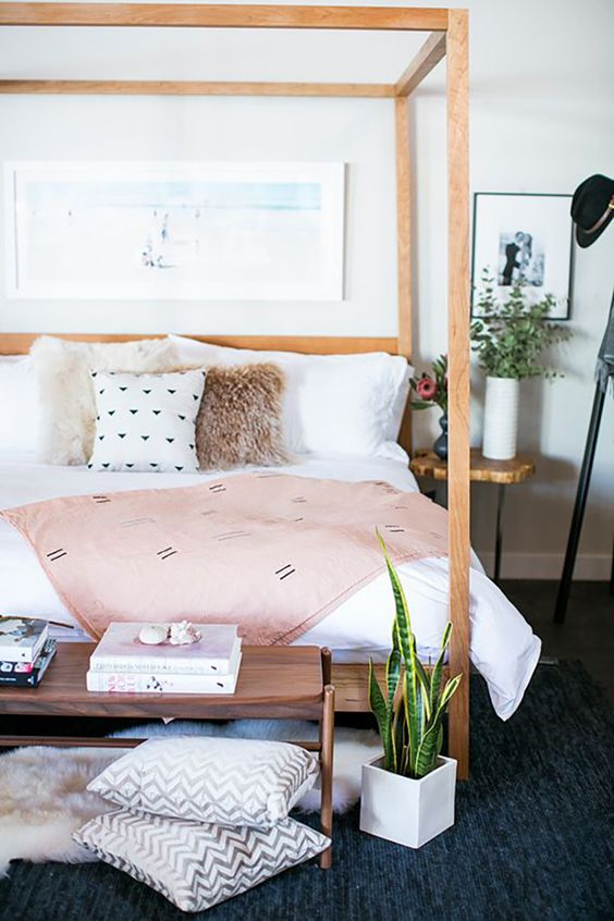 ... the canopy bed is just perfect for you! Pick one with a tiny frame that will fit better the space and enjoy this lovely room. & 5 Easy tricks to make your small bedroom feel big and luxurious ...