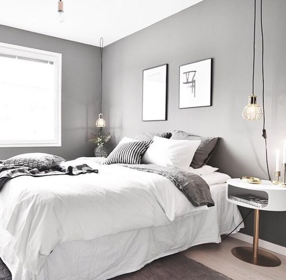 White And Grey Room: 7 Splendid Grey Bedrooms That Will Make You Dream About