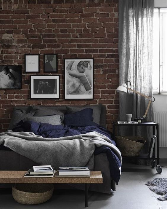 Incroyable Add A Corks Bench And A Nightstand On Whells And An Industrial Lamp To  Create An Original Space Perfect For A Cool Loft Or A Bachelor Pad.