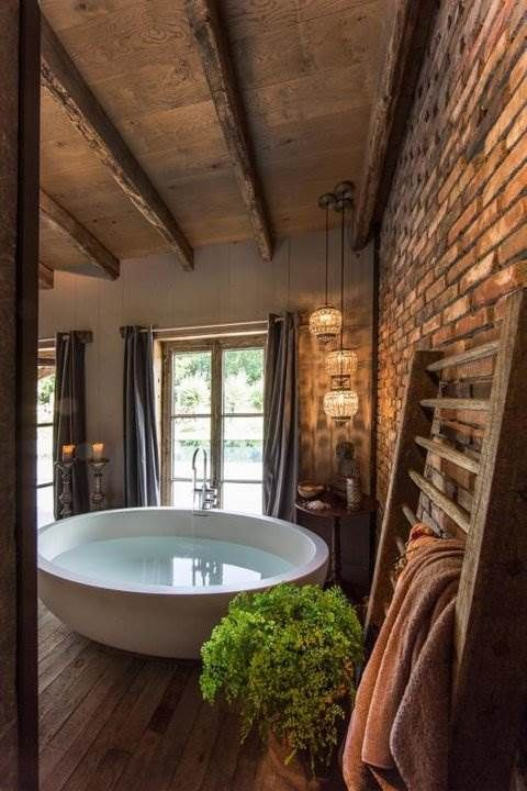 Choose A Big Bathtub For Your Lovely Bathroom And Surround It With Magical  Lights, Plants And Other Dreamy Items That Make This The Perfect Interior  For A ...