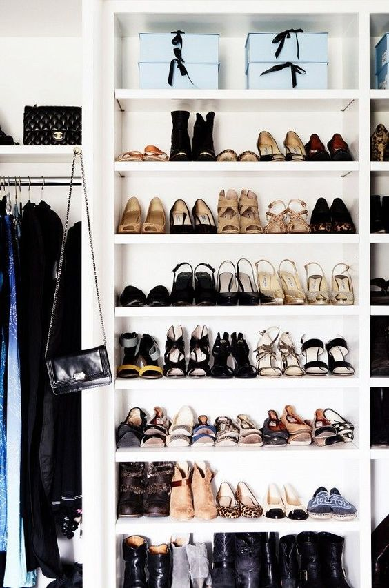 ... Winter And More Often Used Shoes In Front Of Your Display And Let The  Organization Begin. Here Are Eight Stylish Tricks To Use For Your Shoe  Closet: