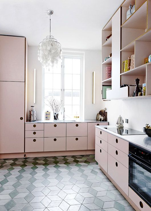 Best 25 Pink Kitchen Cabinets Ideas On Pinterest  Pink Kitchen Endearing Interior Design Of The Kitchen Decorating Inspiration