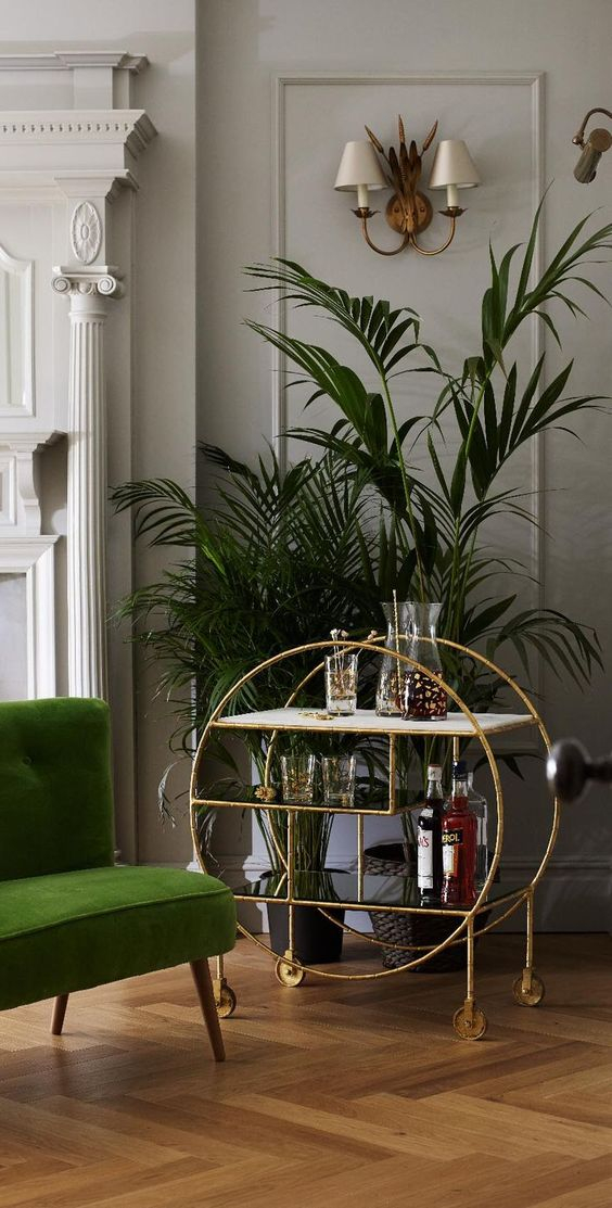 6 Dreamy Gold And Green Interiors That Will Make Your Home