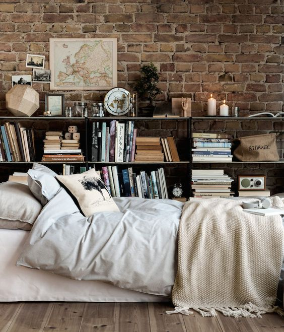 prodigious Hipster Themed Room Part - 12: You can also pick a brick wall, a vintage map and themed travelling items  and a cute neutral cover for you bed.