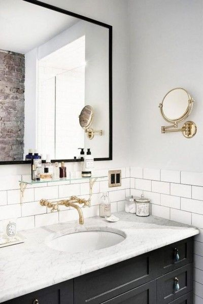 Why are subway tiles back in the deco trends and how to for Small bathroom goals