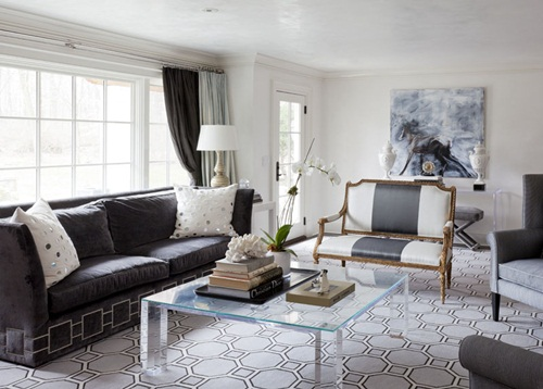 Contemporary Living Room In Grey Shades Daily Dream Decor