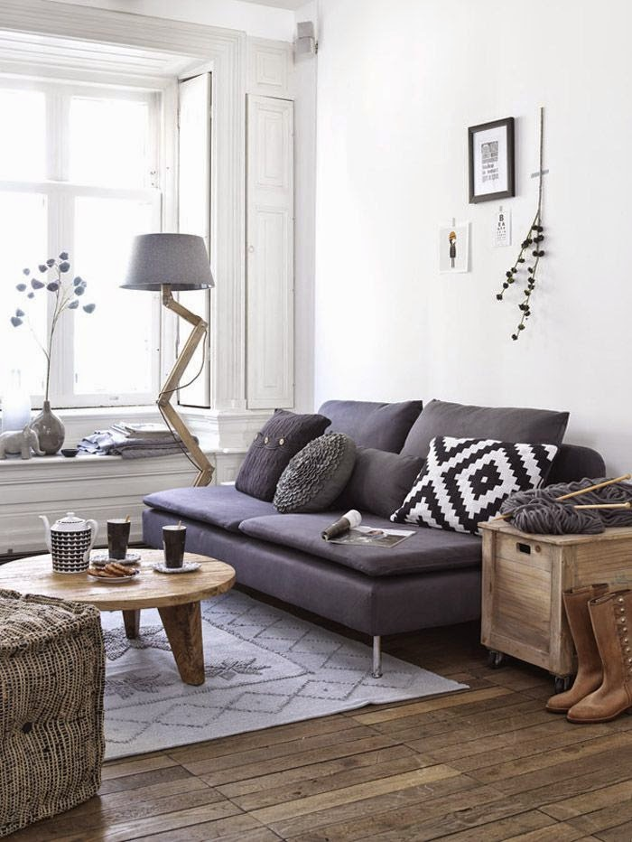 Cool Small Living Room With Grey Sofa Daily Dream Decor Machost Co Dining Chair Design Ideas Machostcouk