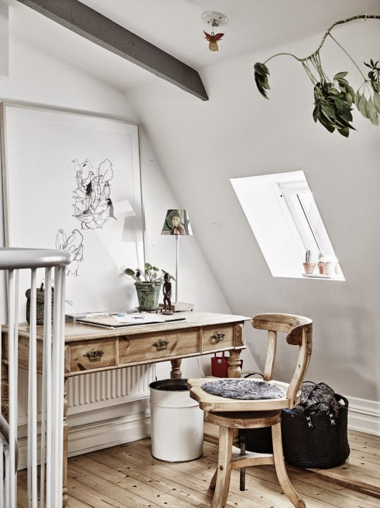 Charming Natural Home Office Daily Dream Decor