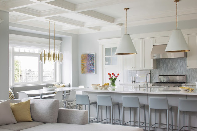 White And Grey With Gold Accents Kitchen Daily Dream Decor