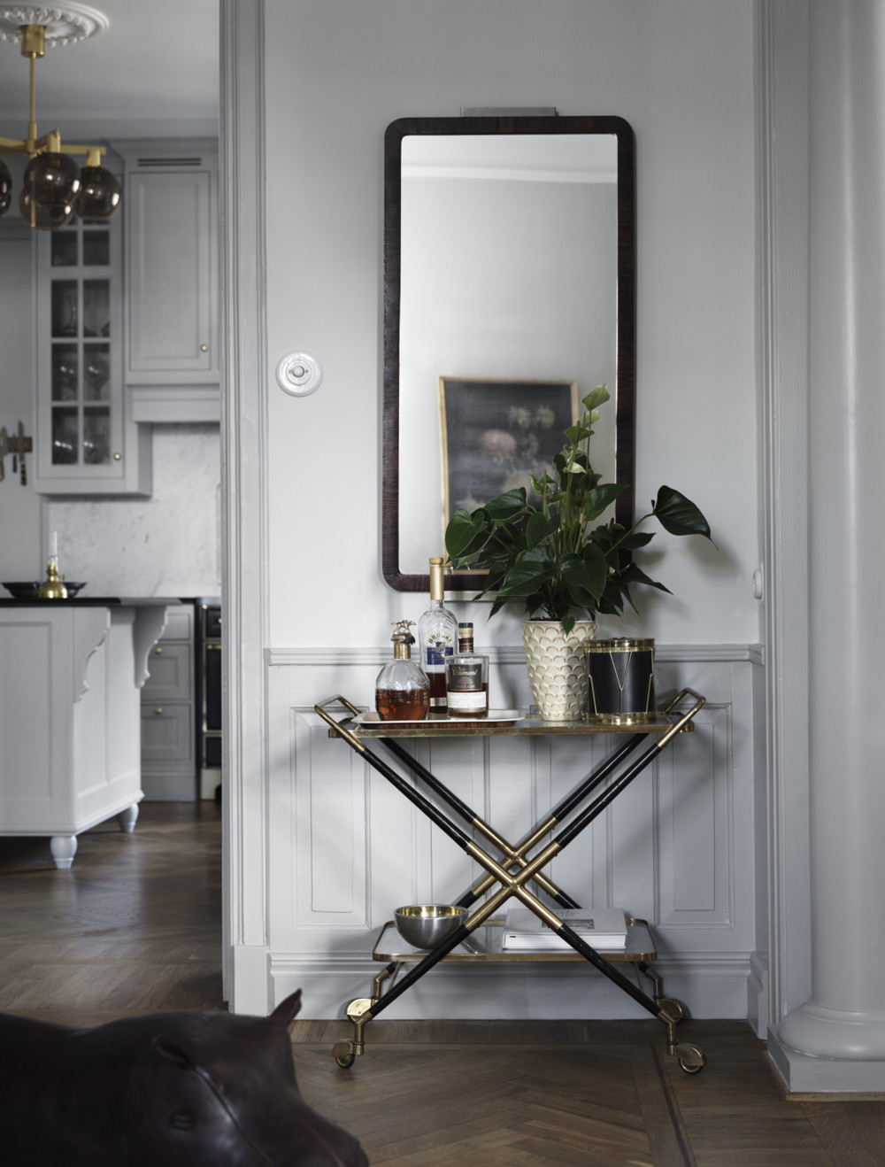 A skilfully decorated Scandinavian apartment