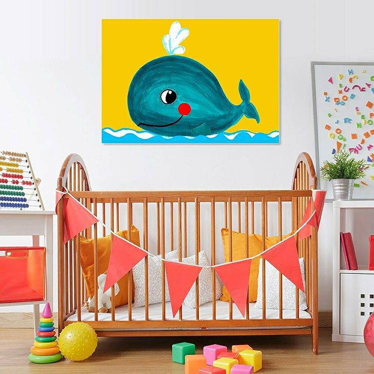 happy-whale-baby-room-poster