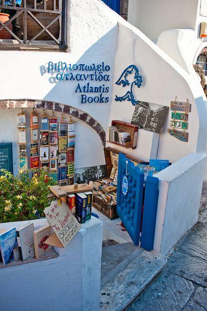 atlantis book santorini greece, amazing bookstore