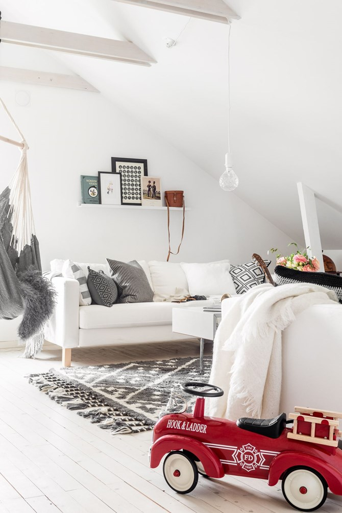 Dreamy attic apartment with a very cozy bedroom