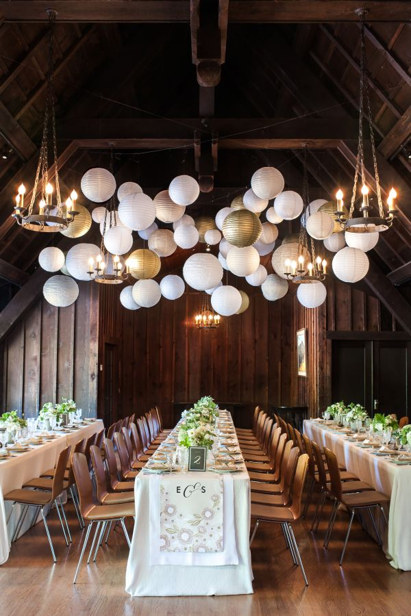 dreamy ceiling wedding arrangement