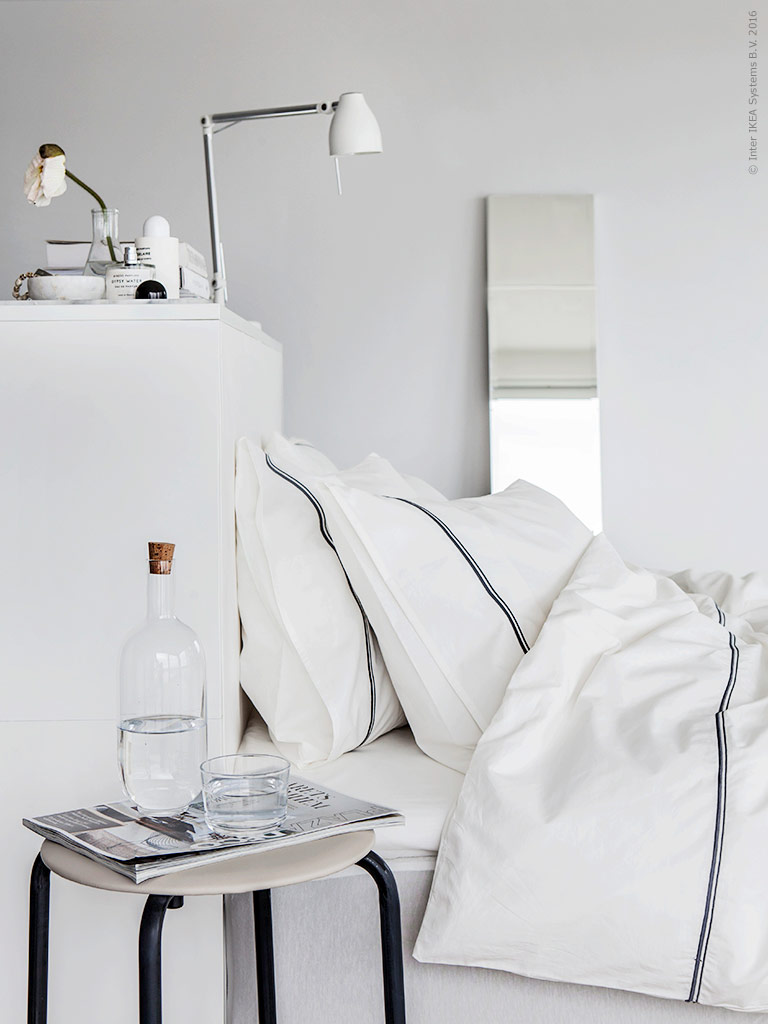 enchanting black white bedroom ideas | Enchanting white Ikea bedroom - Daily Dream Decor