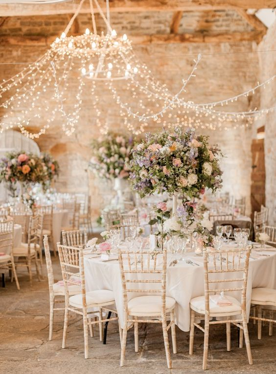 dreamy wedding arrangement