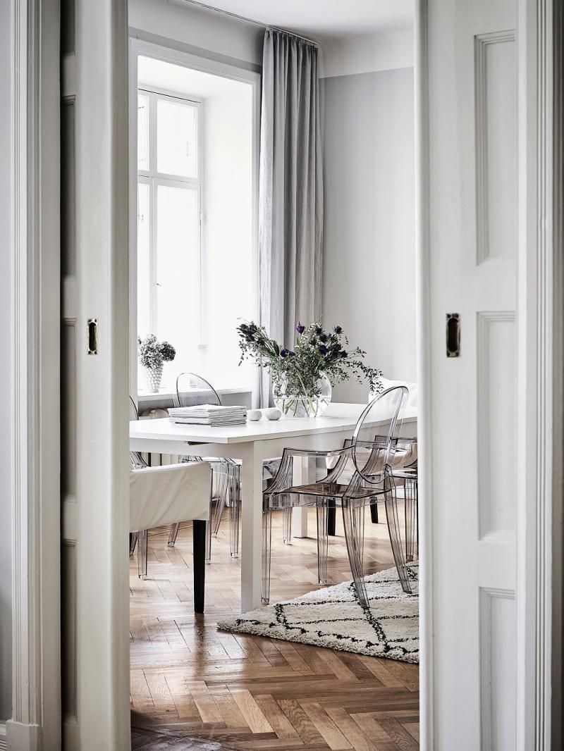Elegant Scandinavian apartment with dreamy details