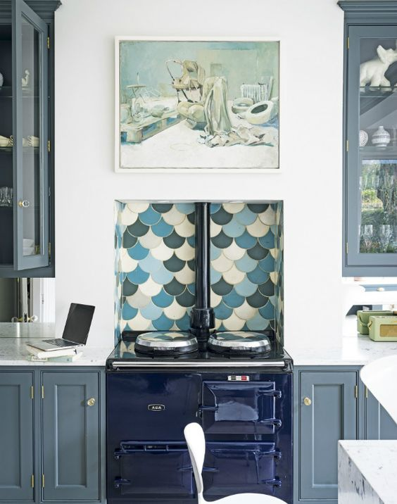 How can the fish scale tiles brig glamour into your home