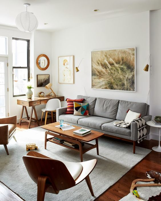 Top 5 mid-century living rooms - Daily Dream Decor