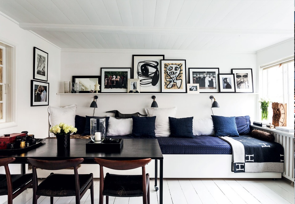 Small Scandi apartment with flexible furniture