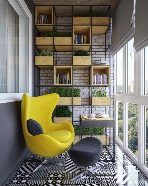 work space look alike small balcony