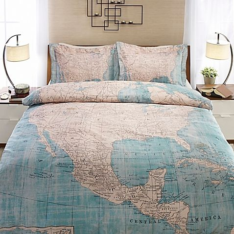bed sheets with map