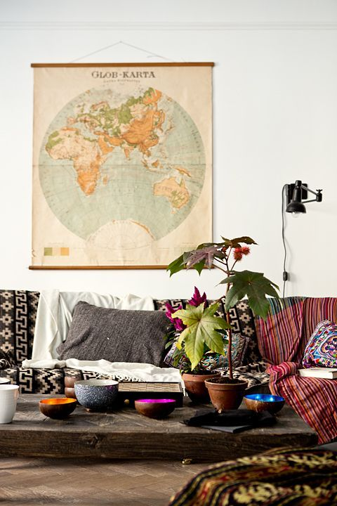 boho space with map 5