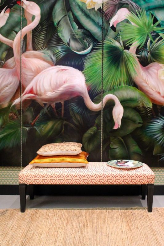 Living Room Wall Murals: 6 Flamingo Spaces That Will Make You Dream About A