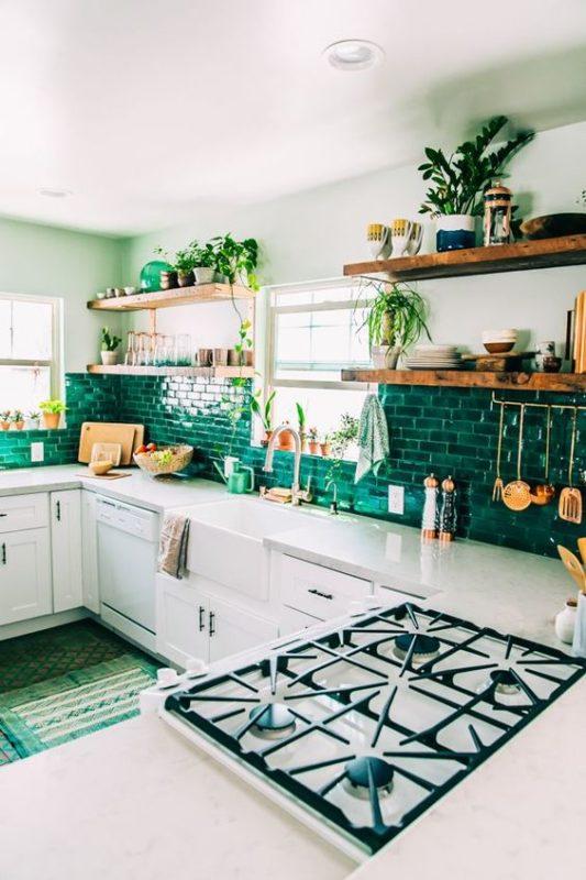 green kitchen 6
