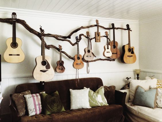 Living Room With A Place For Instruments