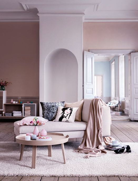 pale pink living space cover