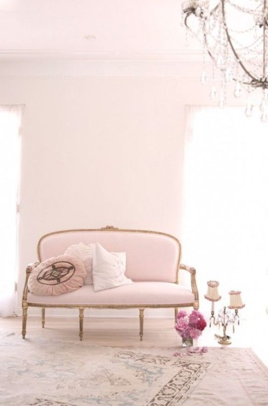 pink living room sofa