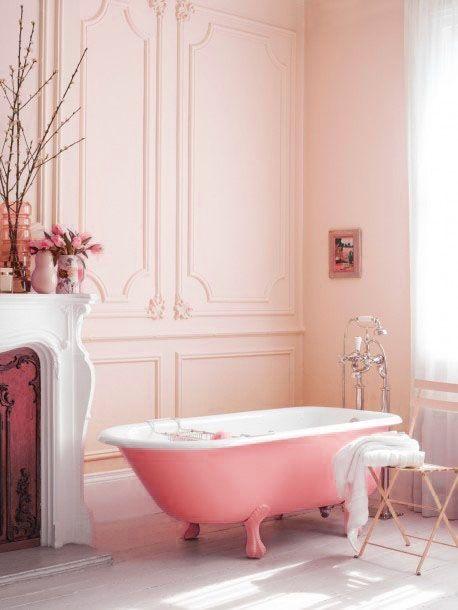 pink retro bath