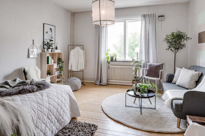 Small studio apartment with a cool vibe - Daily Dream Decor