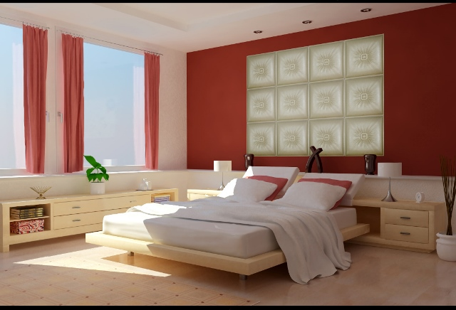 3d leather bedroom