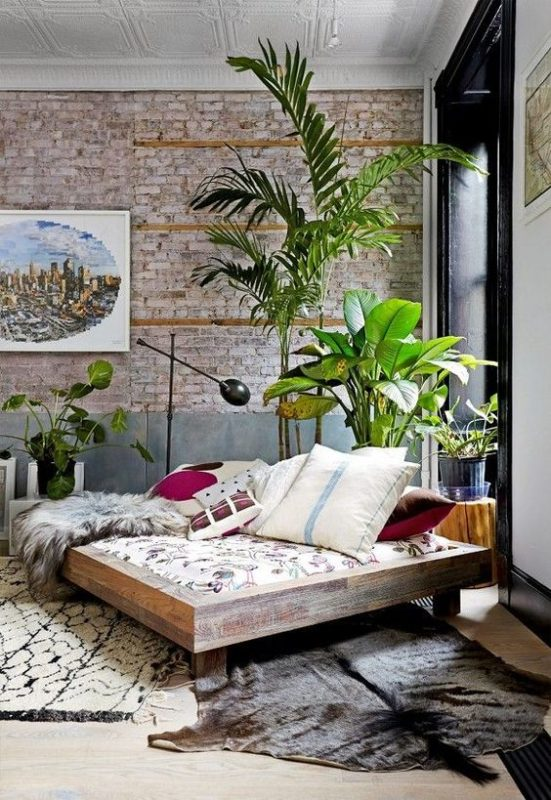 boho and exotic space