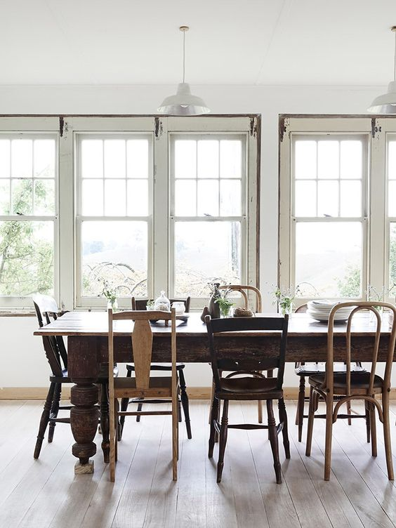 paired dining chairs
