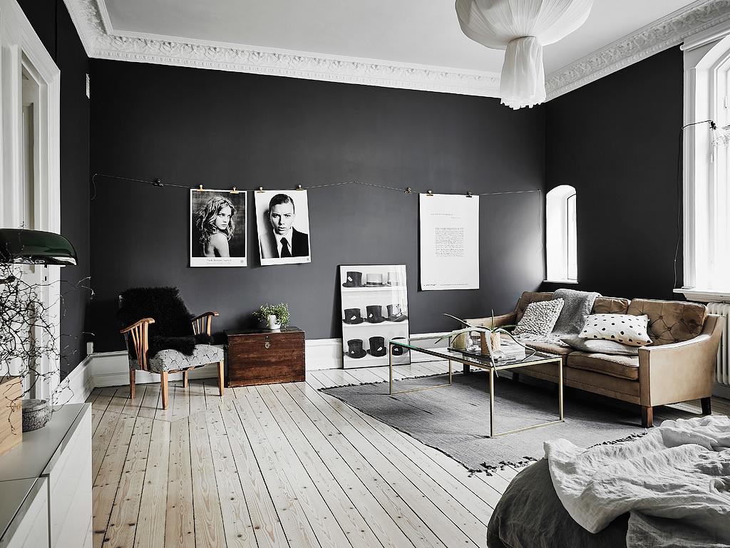 Dreamy scandi apartment with black walls - Daily Dream Decor
