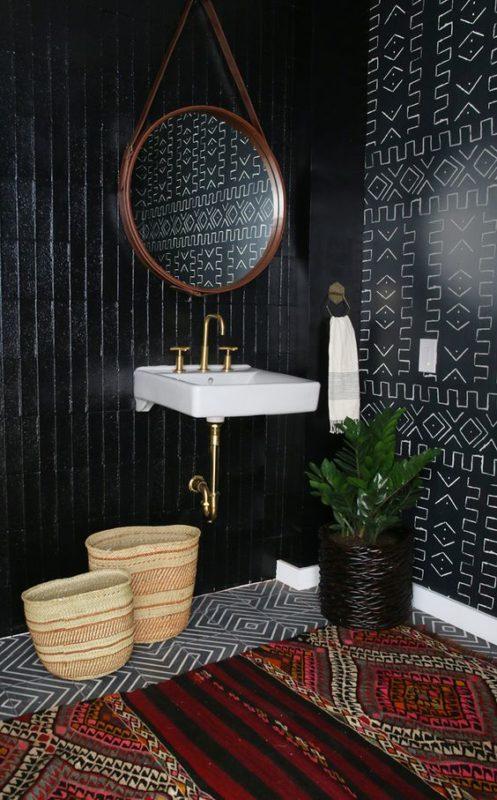 exotic black bathroom