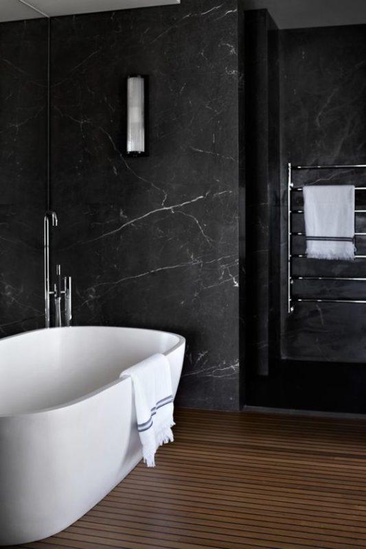 spa vibe black bathroom