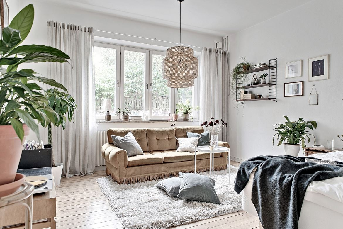 Small studio apartment with vintage details - Daily Dream Decor