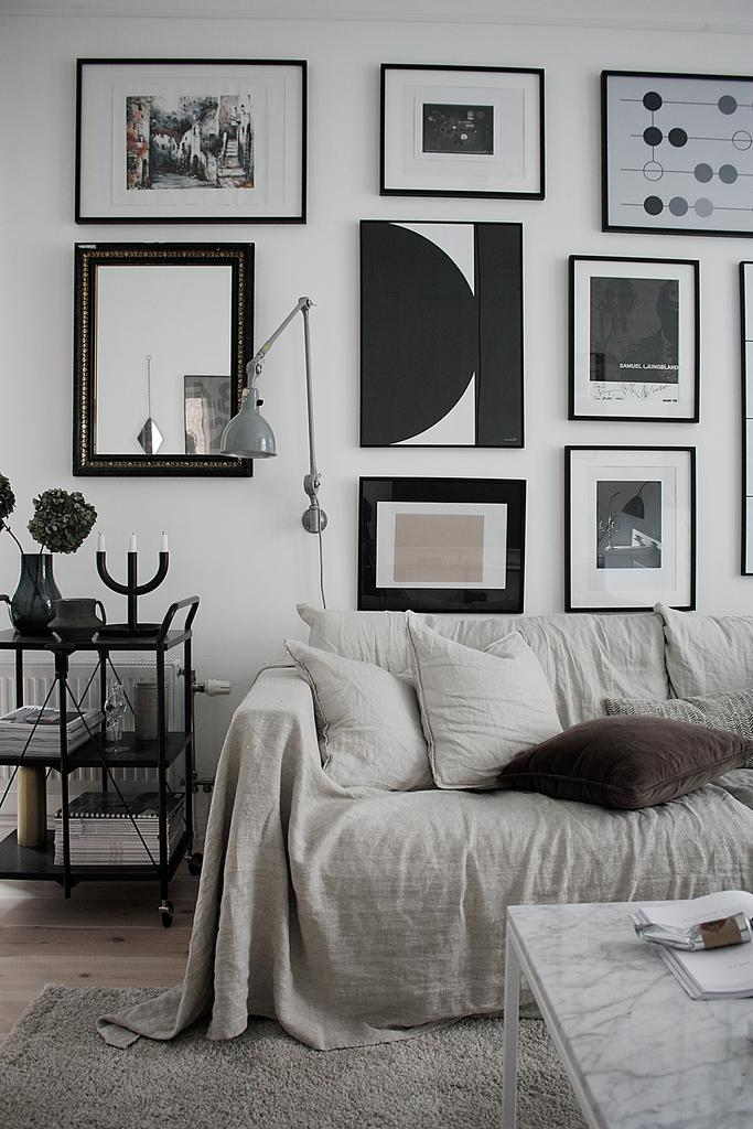 Cozy modern monochrome apartment