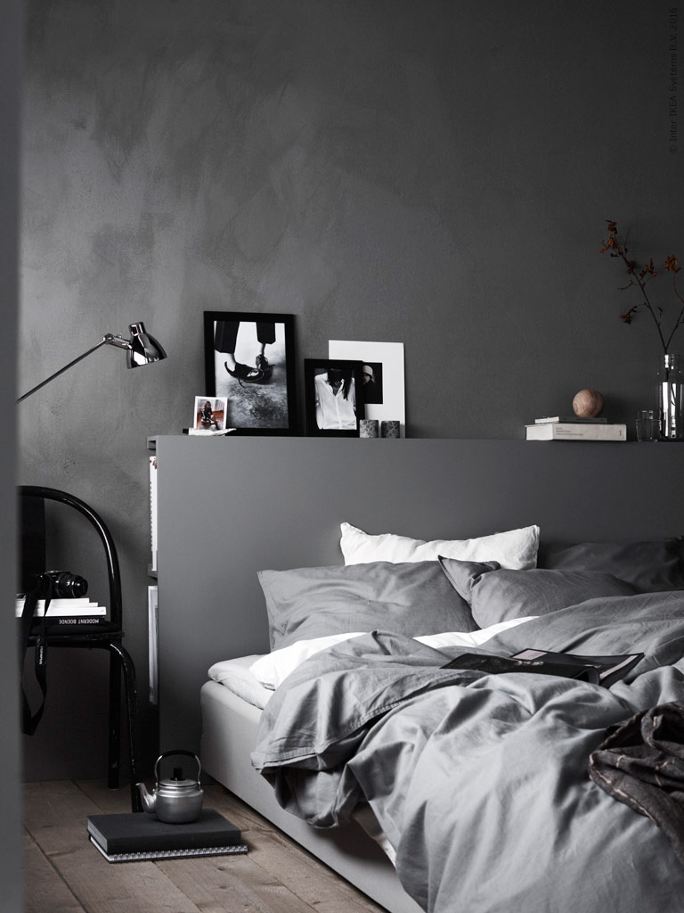 A stylish bedroom with a secret