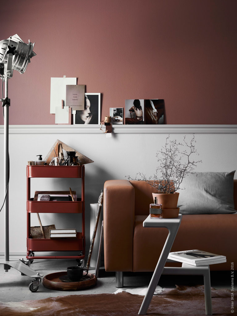 a toffee coloured living room